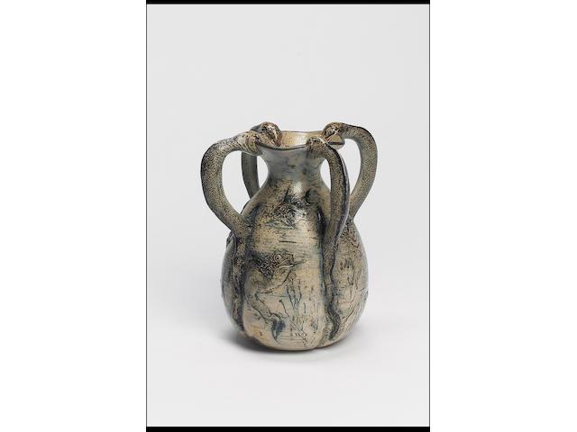 Martin Brothers, 1892 A Grotesque Stoneware Vase