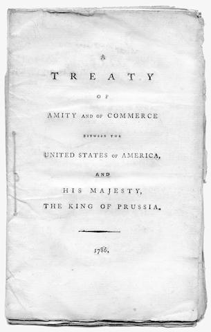 UNITED STATES A Treaty of Amity and of Commerce between the United States of America, and His Majesty, the King of Prussia