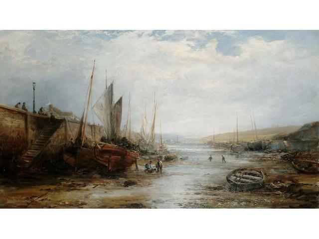 William Edward Webb (British, 1862-1903) Peel Harbour, Isle of Man, 54.5 x 95cm