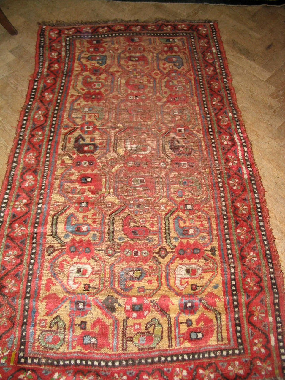An Afshar rug South West Persia, 161cm x 120cm together with another two rugs (3)