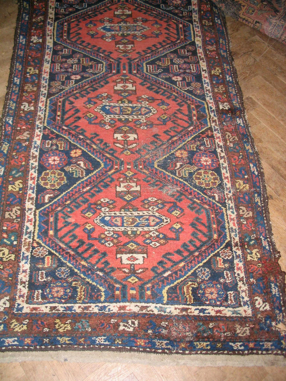 A Karadja rug North West Persia, together with two Hamadan rugs, (3)