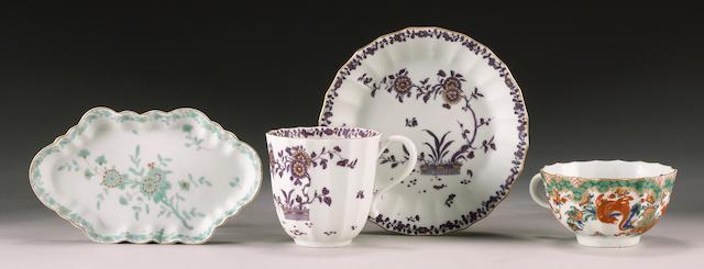 A rare Worcester spoon tray circa 1768-70