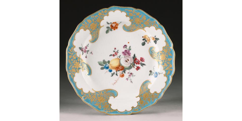 A fine Worcester dessert plate circa 1770