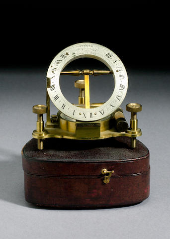 A P Orr & Sons Brass Universal Equinoctial Dial,  English,  circa 1900,