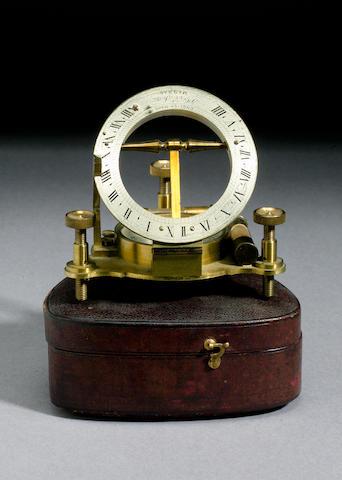 A P Orr & Sons Brass Universal Equinoctial Dial,  English,  circa 1900,