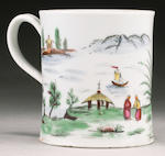 A very rare Worcester coffee can or small mug circa 1756
