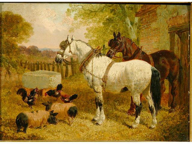 J.F.Herring Jnr A pair of farmyard scenes (2)