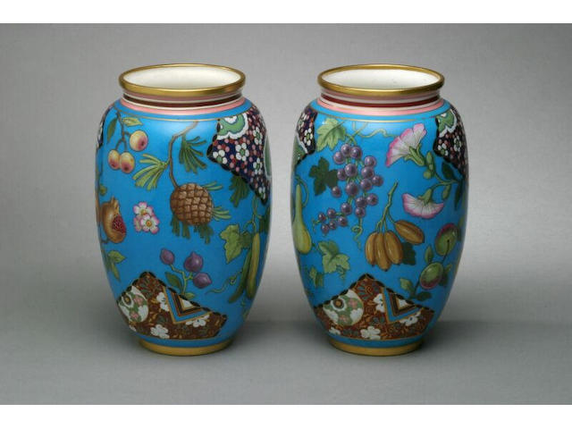 A good pair of Minton vases, circa 1890