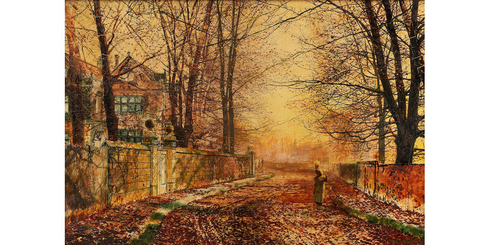 John Atkinson Grimshaw (British 1836-1893) A Golden Idyll 31 x 46 cm. (12 1/4 x 18 in.)