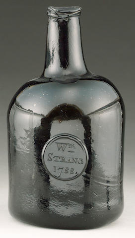 A sealed and dated wine bottle dated 1785