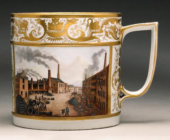 An important Derby porter mug circa 1820