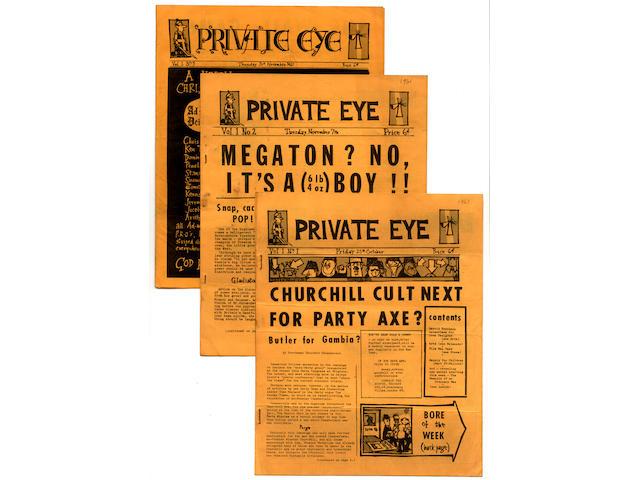 PRIVATE EYE Private Eye, vol. 1, no. 1
