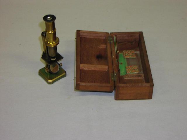 A Martin-type Drum Microscope, English, circa 1820, (2)