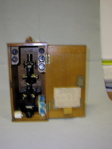 A W Watson Monocular Microscope, English, circa 1940,