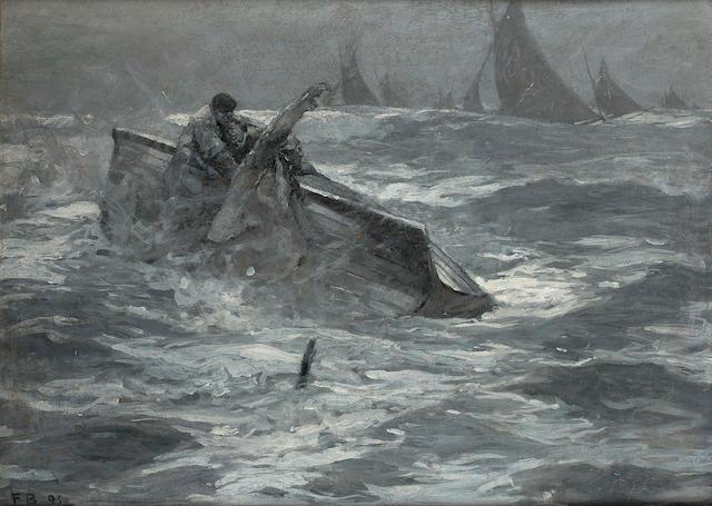 Sir Frank Brangwyn R.A. (1867-1956) Capsized 56.5 x 77 cm. (22 1/4 x 30 1/4 in.)