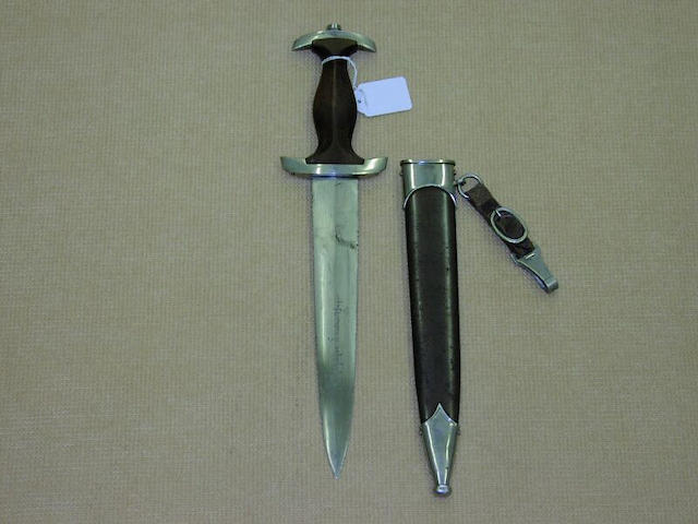 A Third Reich S.A. dagger with dedication