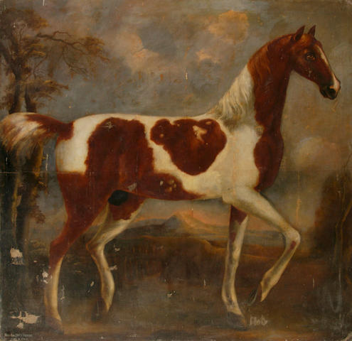 Thomas Bardwell (1704-1767) A portrait of Ned Baldry's shell horse 183 x 189cm (72 x 74½in), together with one volume, 'Deer hunting in Norfolk'