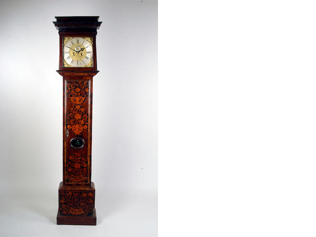 Joseph Winch, Uxbridge; A William and Mary walnut and marquetry longcase clock,