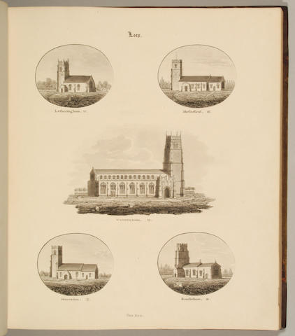 SUFFOLK, ISAAC JOHNSON Ecclesiastical Antiquities of the County of Suffk. comprising Drawings of