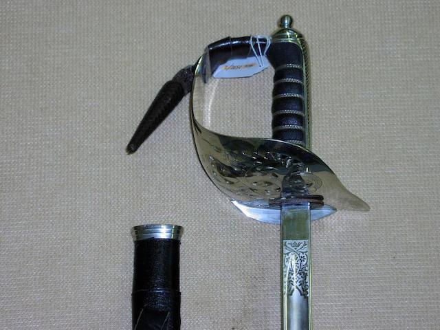 An 1897 pattern infantry officer's sword
