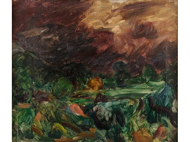 Sir Matthew Arnold Bracy Smith L.G. (1879-1959) Approaching storm 31 x 36 cm. (12 1/8 x 14 1/4 in.)