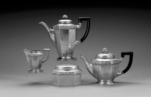 A quantity of Continental silver and metalware items, mostly German,