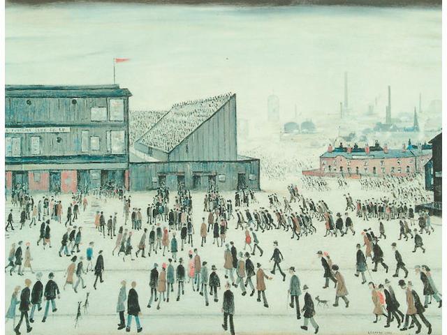 After Laurence Stephen Lowry (1887-1976) 'Going to the Match' 52.5 x 68cm