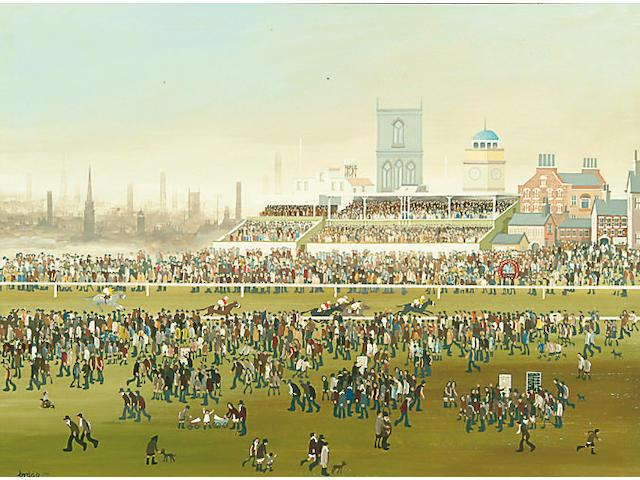 Brian Shields (Braaq) (1951-1997) 'York Races' 42.5 x 58.5cm
