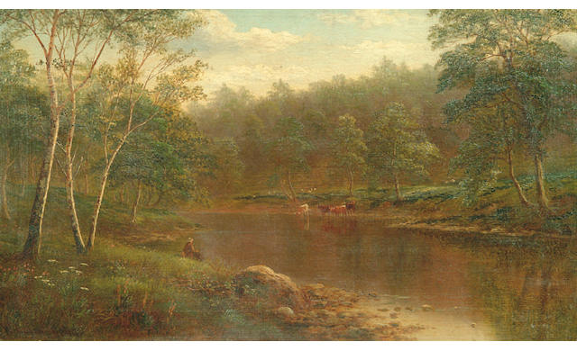 William Mellor 'On the Wharfe, Bolton Woods, Yorkshire' 31 x 51.5cm