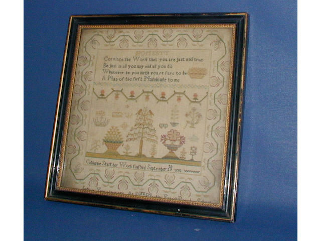 Sampler, Catherine Staff, 1790