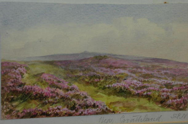 Sarah Ellen Weatherill (1836-1920) 'Near Goathland' 10.5 x 18cm and 24.5 x 18cm respectively. (2)