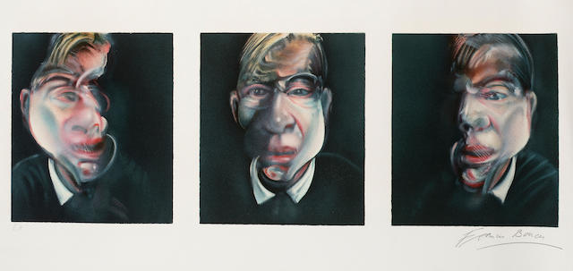E.A. print, 'Francis Bacon', With Prints W1 rolled. To be advised