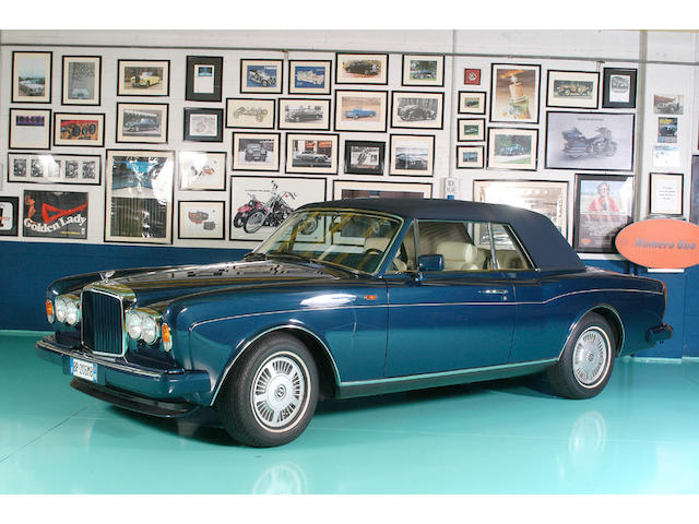 15,135 kilometres from new ,1991 Bentley Continental Convertible  Chassis no. SCBZD02A4MCX30504