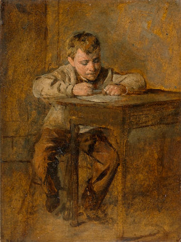 William Henry Hunt, OWS (British 1790-1864) Hard at work 20 x 15 cm. (8 x 6 in.)