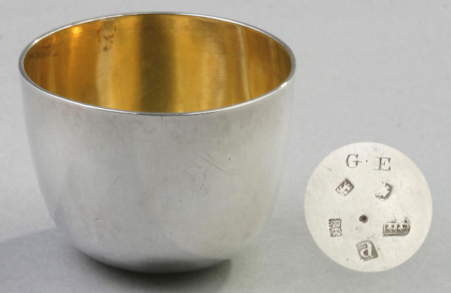 A George III tumbler cup, by Richard Richardson III, Chester 1776,
