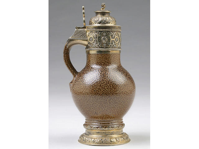 An eighteenth Century style Tigerware lidded tankard, by Nathan and Hayes, Chester 1912,