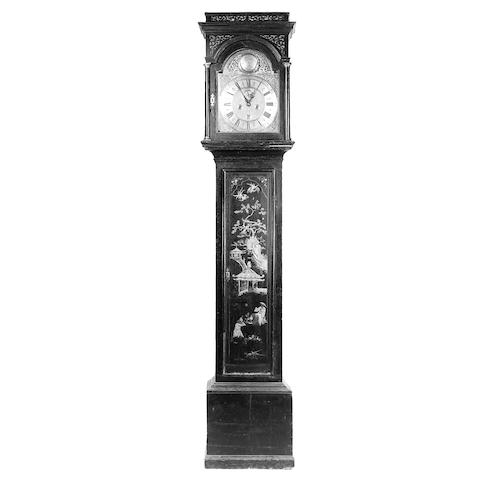 A George III lacquered longcase clock,