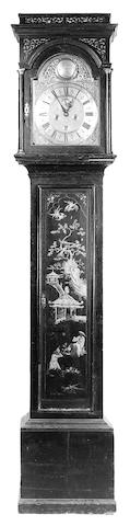 A George III lacquered longcase clock,