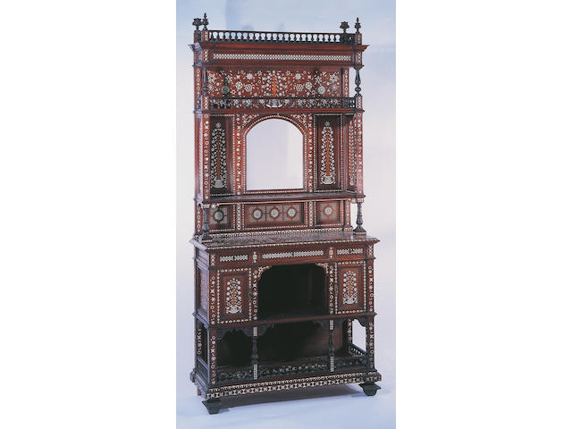 An Anglo-Indian teak side cabinet,