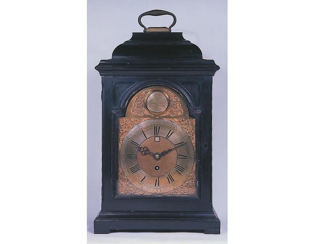 A George III ebony bracket clock,