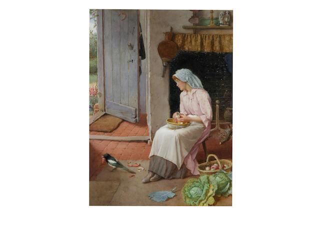 Charles Edward Wilson (1854 - 1941) 'Mischief', 39 x 28cm.