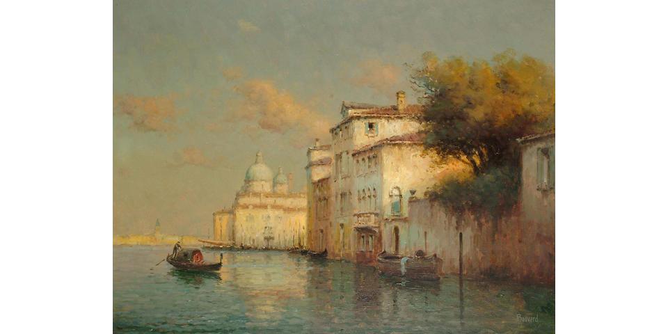 Noel Georges Bouvard (French 1912-1975) Venetian canal scene, 50 x 66 cm.