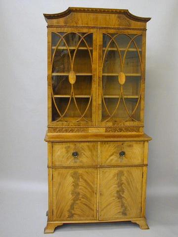 A Regency style mahogany secretaire bookcase,