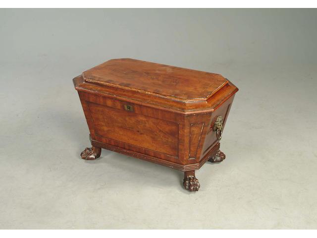 A Regency mahogany cellarette