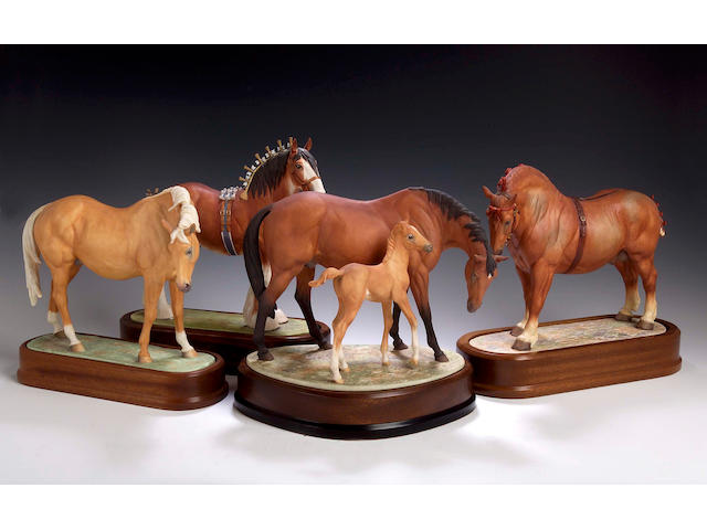 Suffolk Stallion, A Royal Worcester model, numbered 497 of 500,