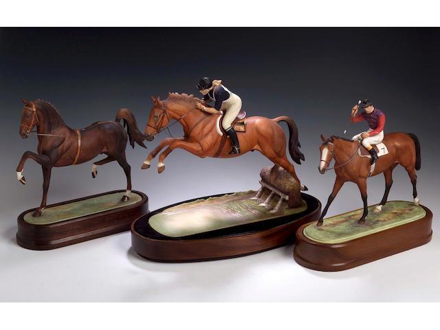Hackney Stallion, A Royal Worcester model, numbered 239 of 500,