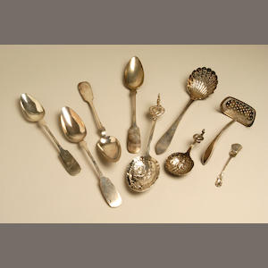 An early 19th century French provincial sifter spoon,