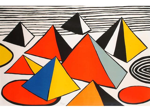 Alexander Calder (American, 1898-1976) Tank Traps (image) 74 x 110cm.