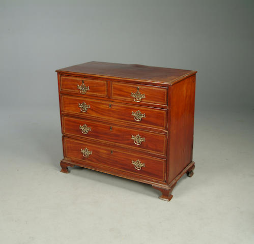 A George III mahogany small chest,