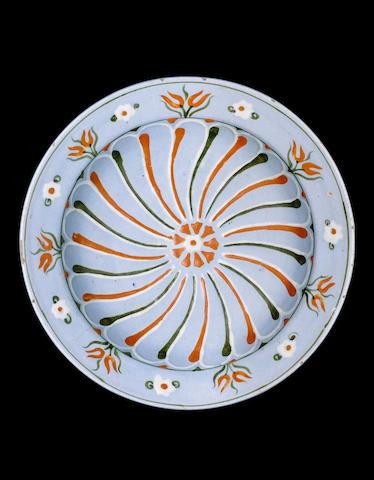 An Iznik lavender ground pottery Dish Turkey, circa 1560